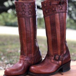 Frye Engineer Americana leather boots
